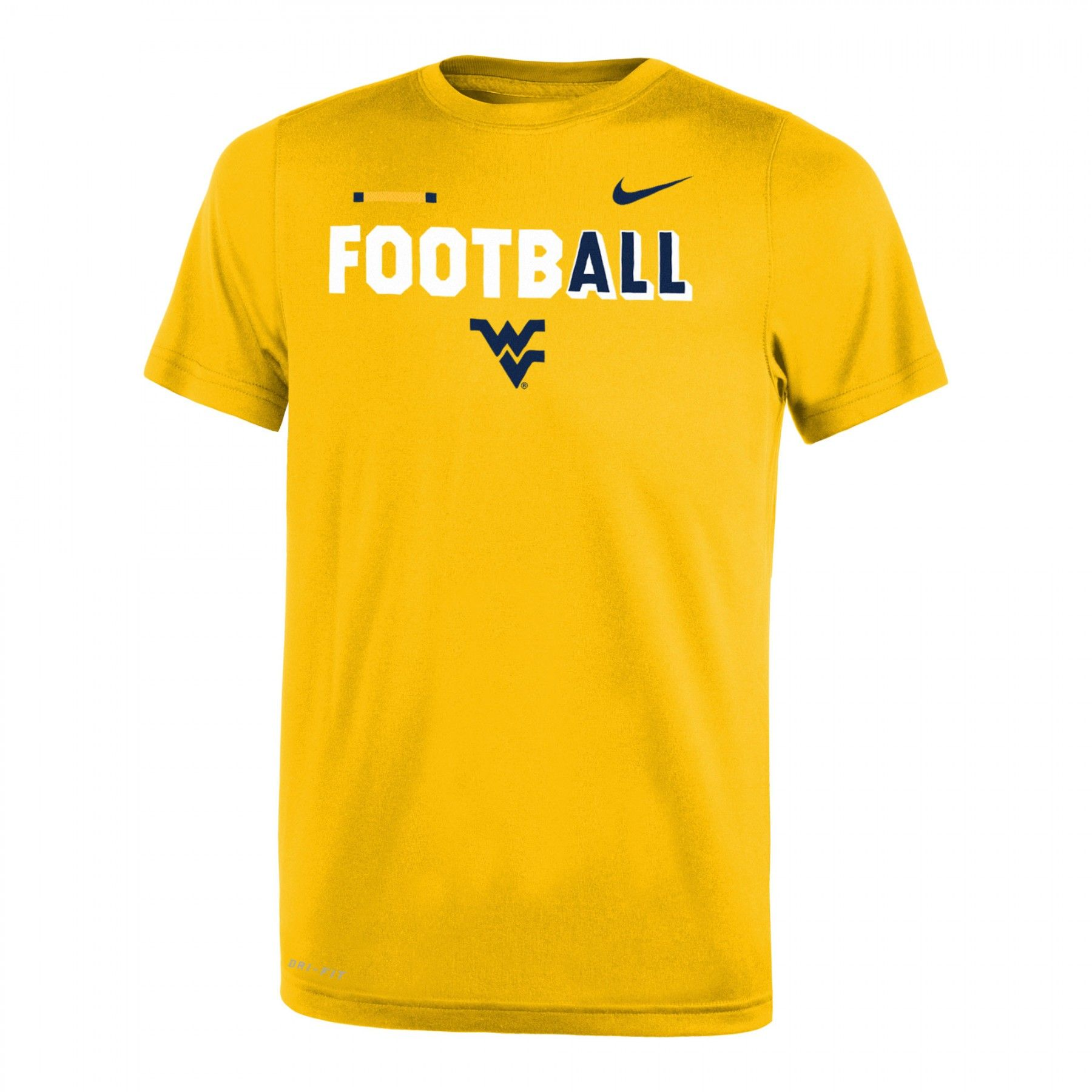 Nike WVU DriFIT Legend Football Tee Youth (With images