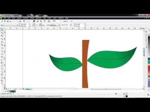 Cara Membuat Daun Di Corel Draw Belajar Corel Draw Pinterest
