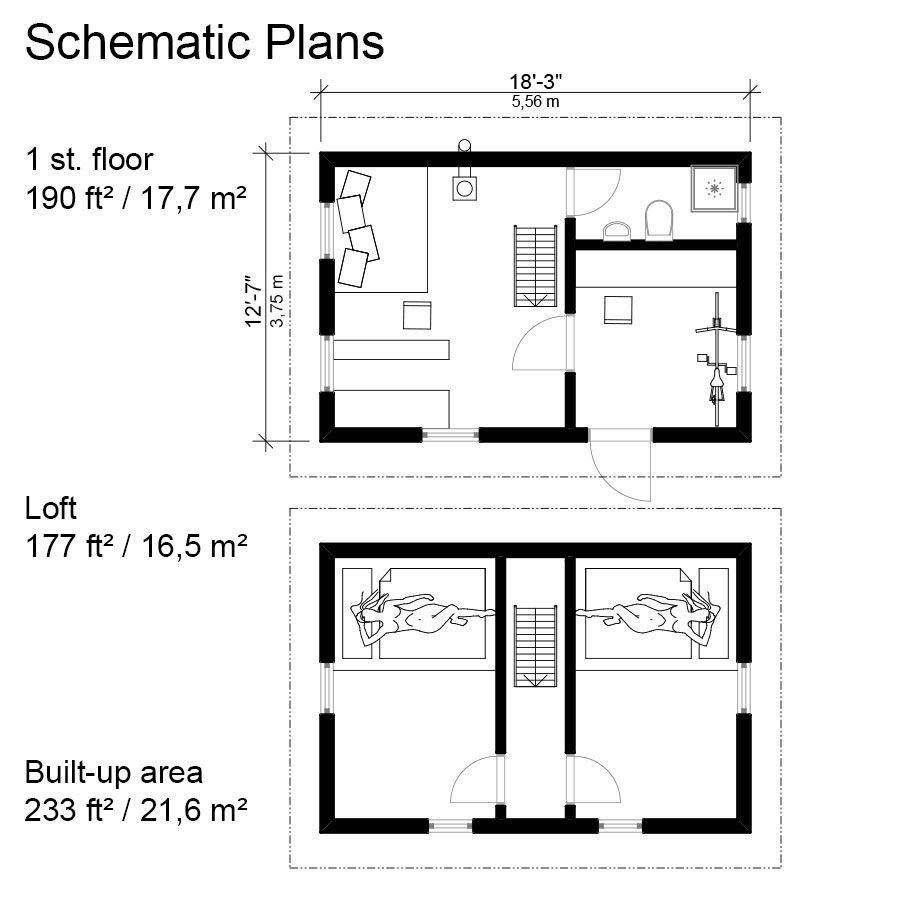 Small  Gambrel Roof House  Plans  Sofia in 2020 Gambrel