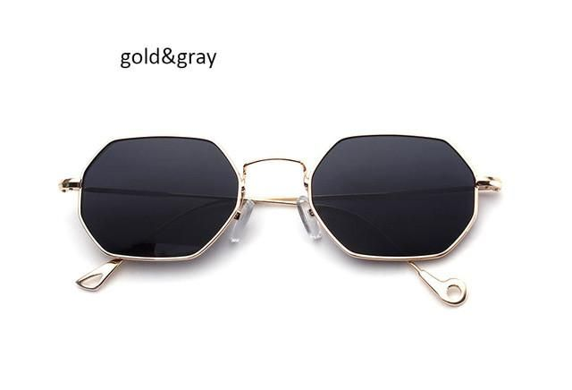 8ba13211aba 2017 New Italy Small Octagon Steampunk Sunglasses Fashion Women Men Brand  Designer Metal Frame Sun Glasses Vogue Ladies Oculos