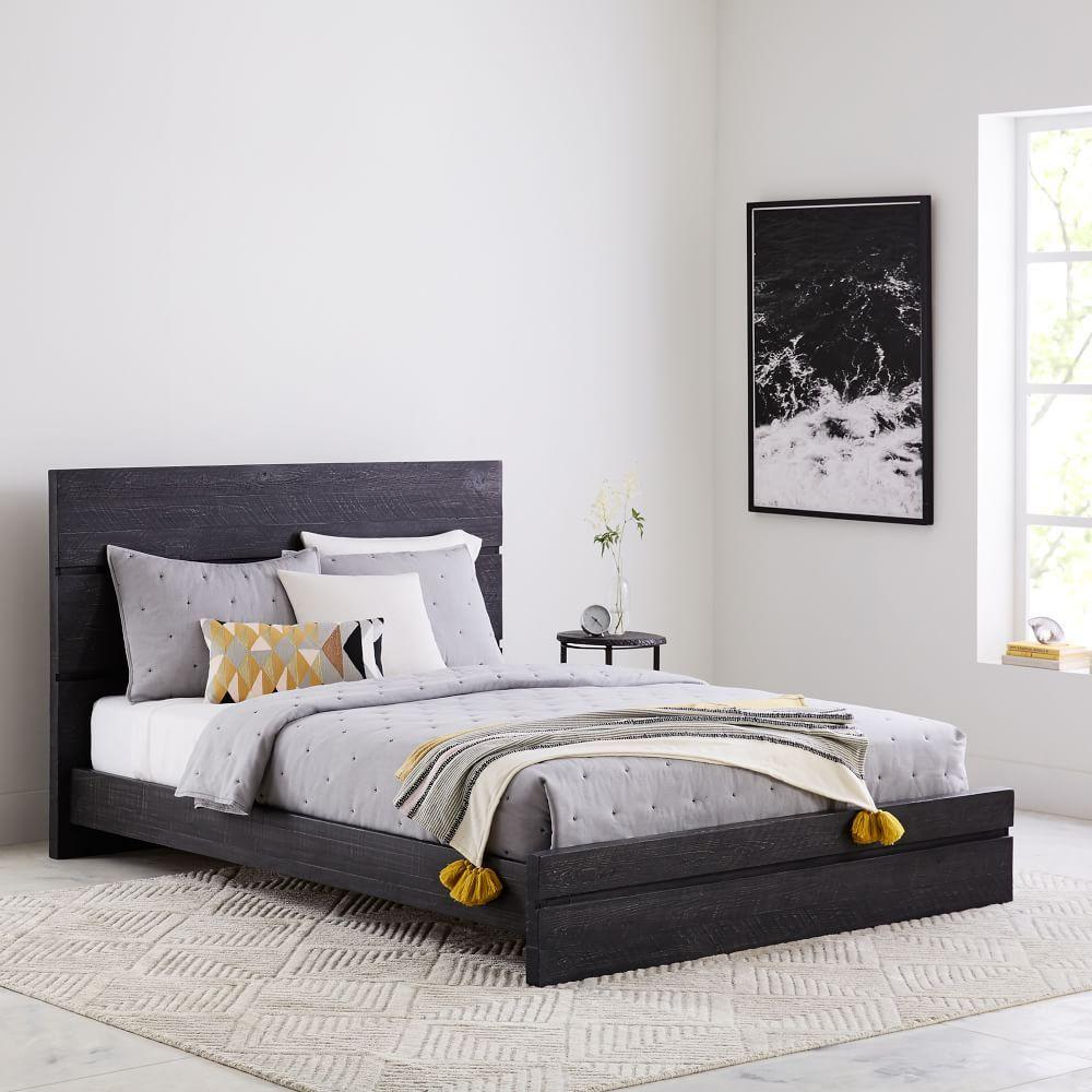 Emmerson® Modern Reclaimed Wood Bed - Ink Black | Home | Pinterest ...