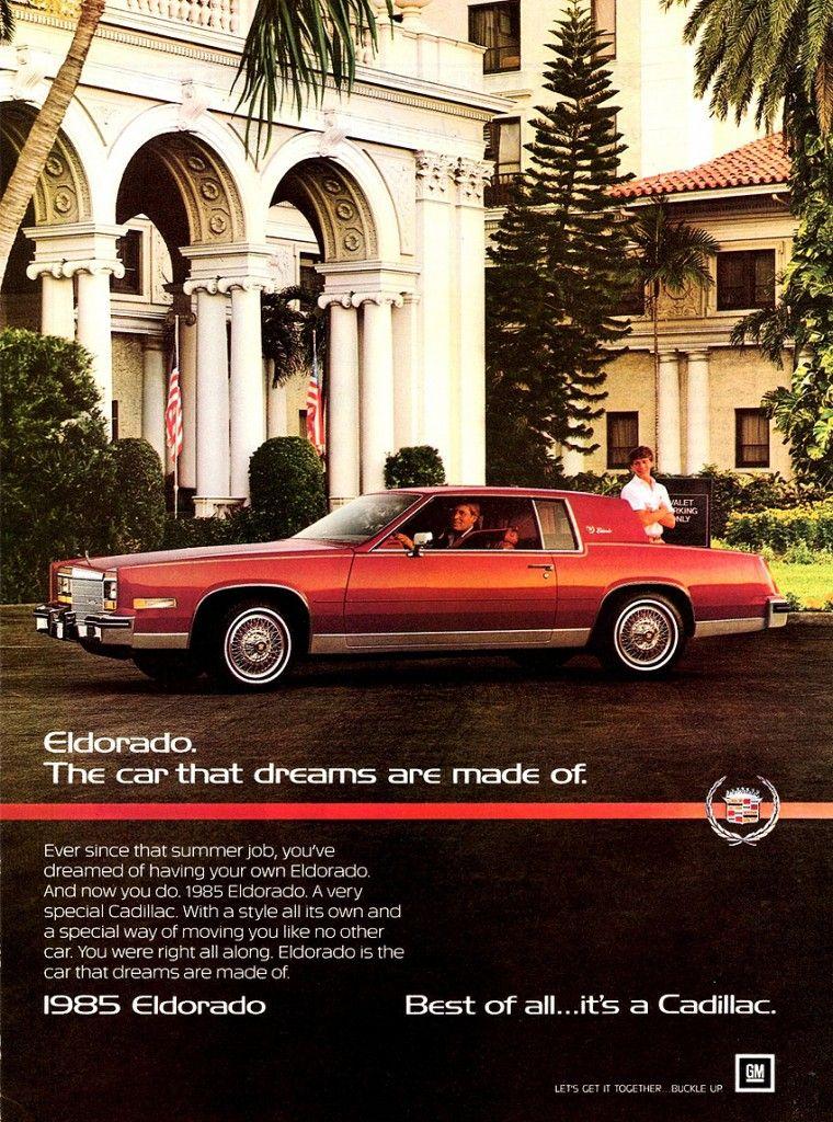 Cadillac Eldorado ad.