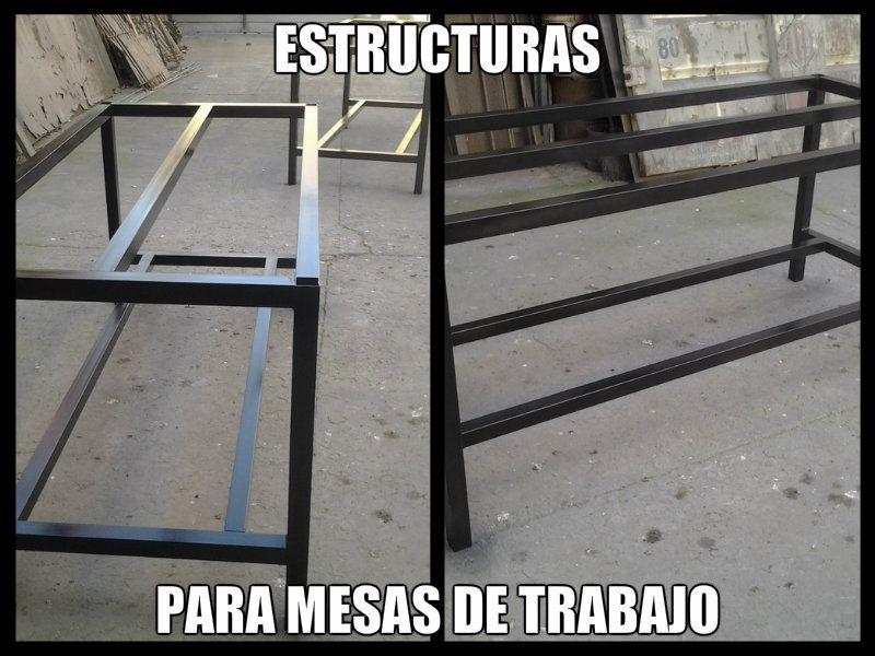 Estructuras para mesas de trabajo iv trabajos - Estructuras para mesas ...