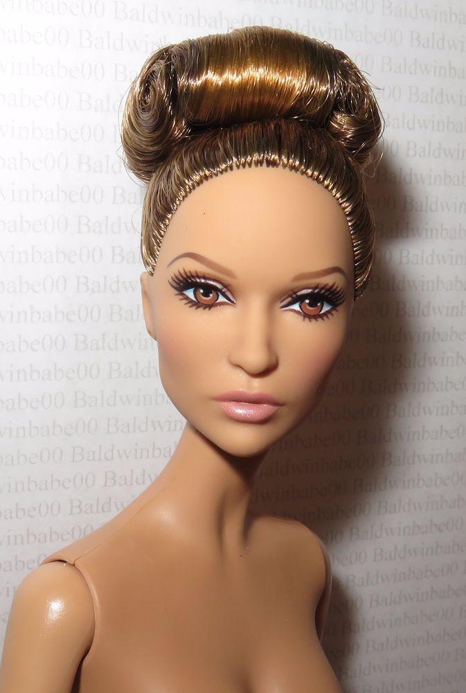 * NUDE BARBIE ~ BRUNETTE JLO JENNIFER LOPEZ CELEBRITY MODEL MUSE DOLL FOR OOAK #Mattel
