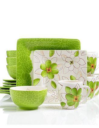 Laurie Gates \ Lola\  Green 16 Piece Dinnerware Set  sc 1 st  Pinterest & Laurie Gates \