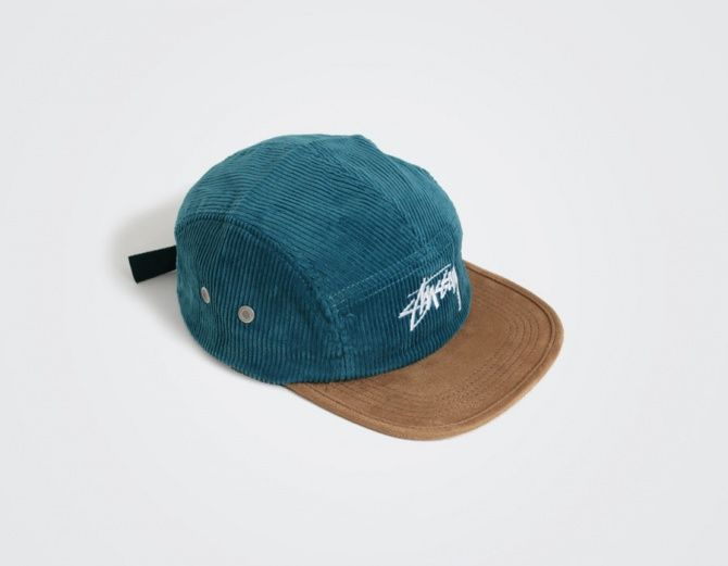 Stussy 5 Panel Cord Camp  Cap Teal  17b5c9fb629