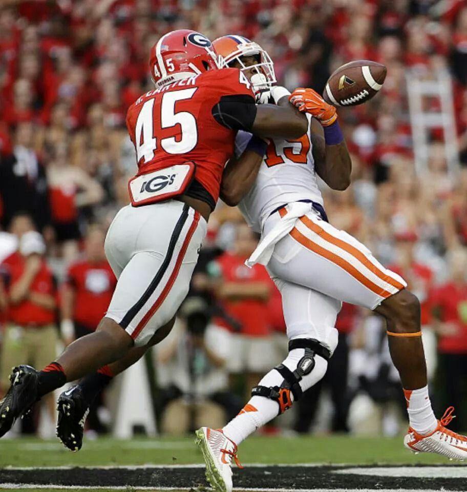 Ga Beats Clemson University Of Georgia Georgia Bulldogs
