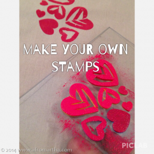 DIY your rubber stamps the easy way, with craft foam