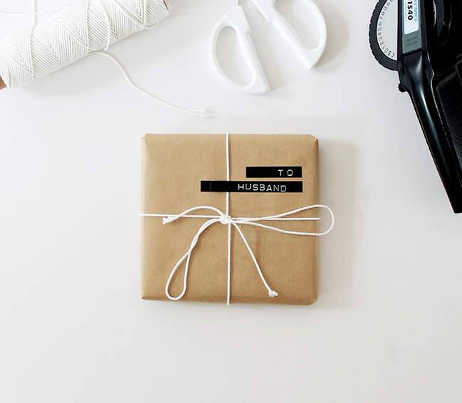 50 of the most beautiful christmas gift wrapping ideas with stacks another great gift wrapping idea for the guys using a label maker instead of gift negle Gallery