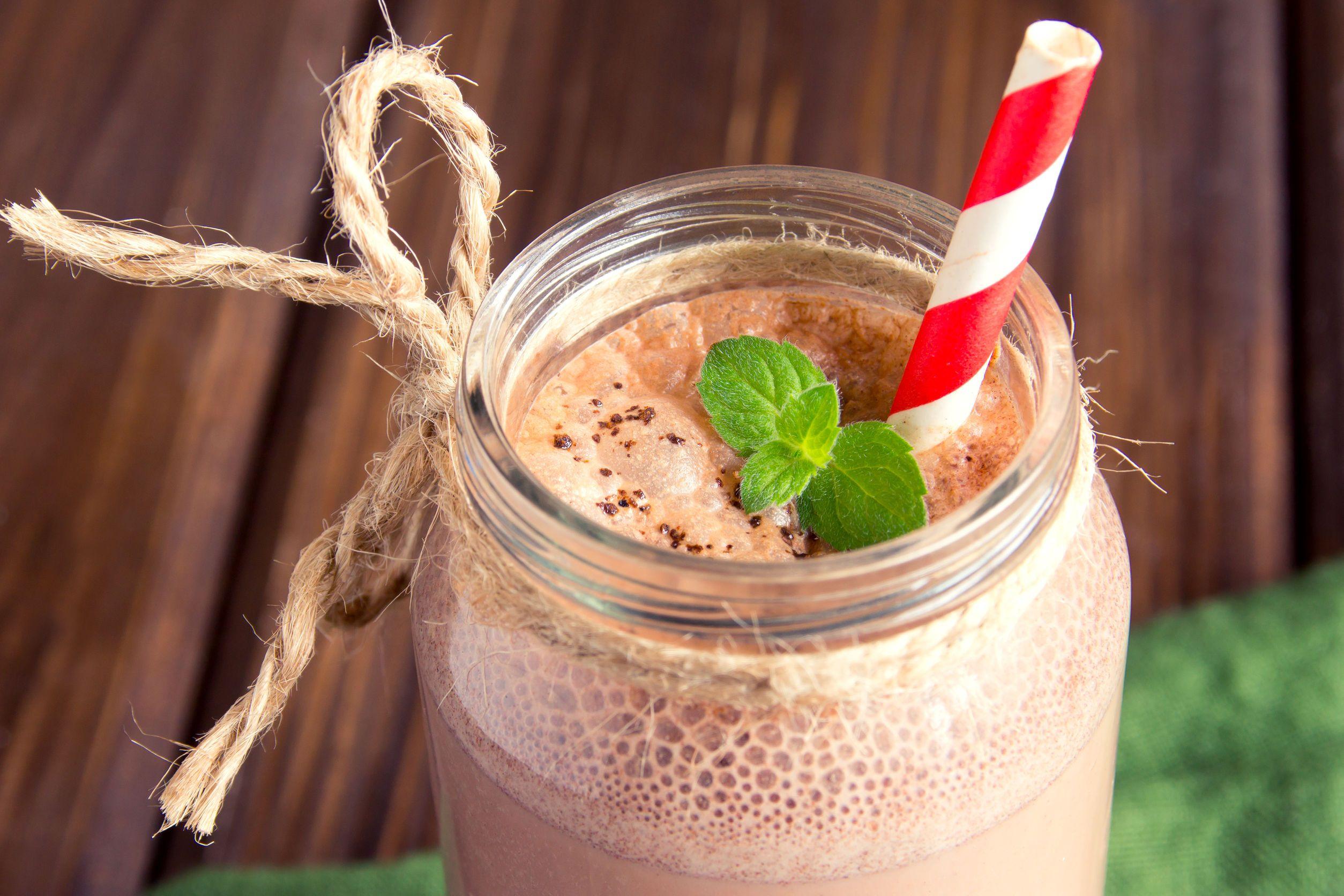 Chocolate mint ketogenic smoothie super smoothies shake