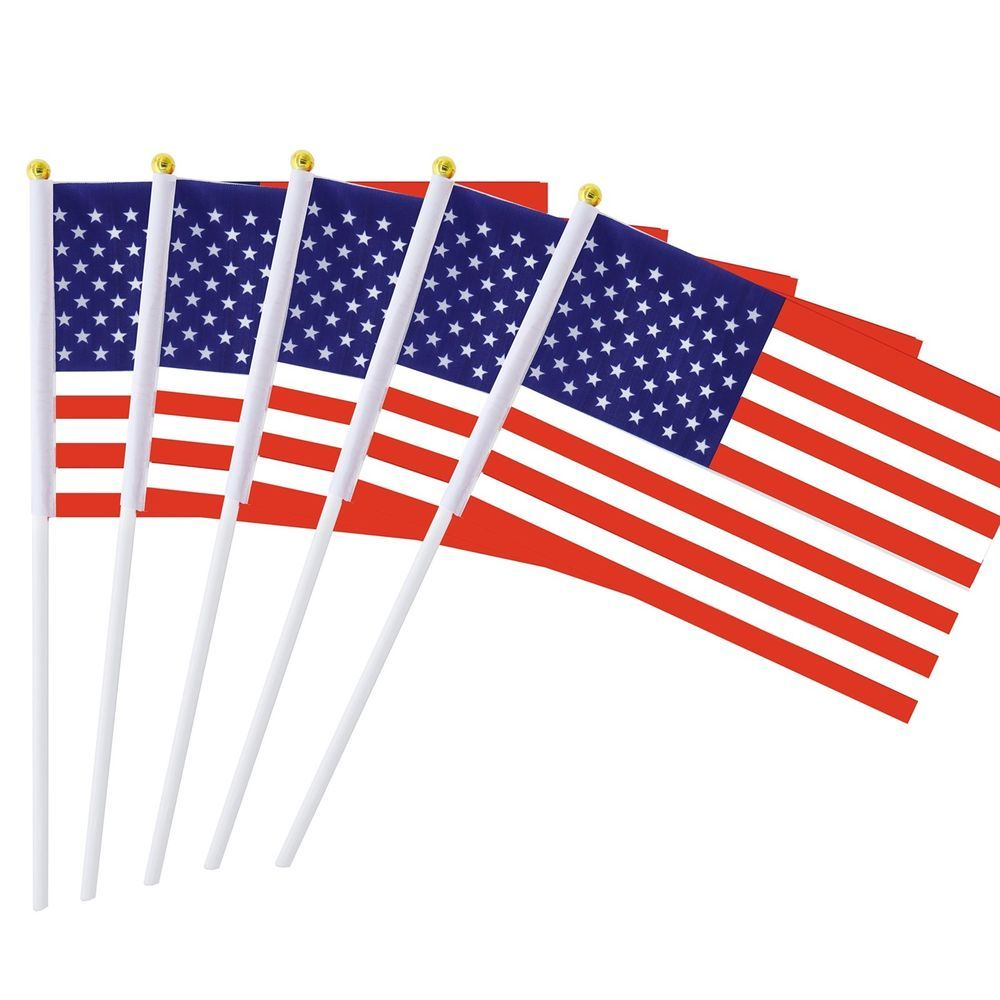 American Stick Flags Small Mini Flag 50 Pack 4th July Party