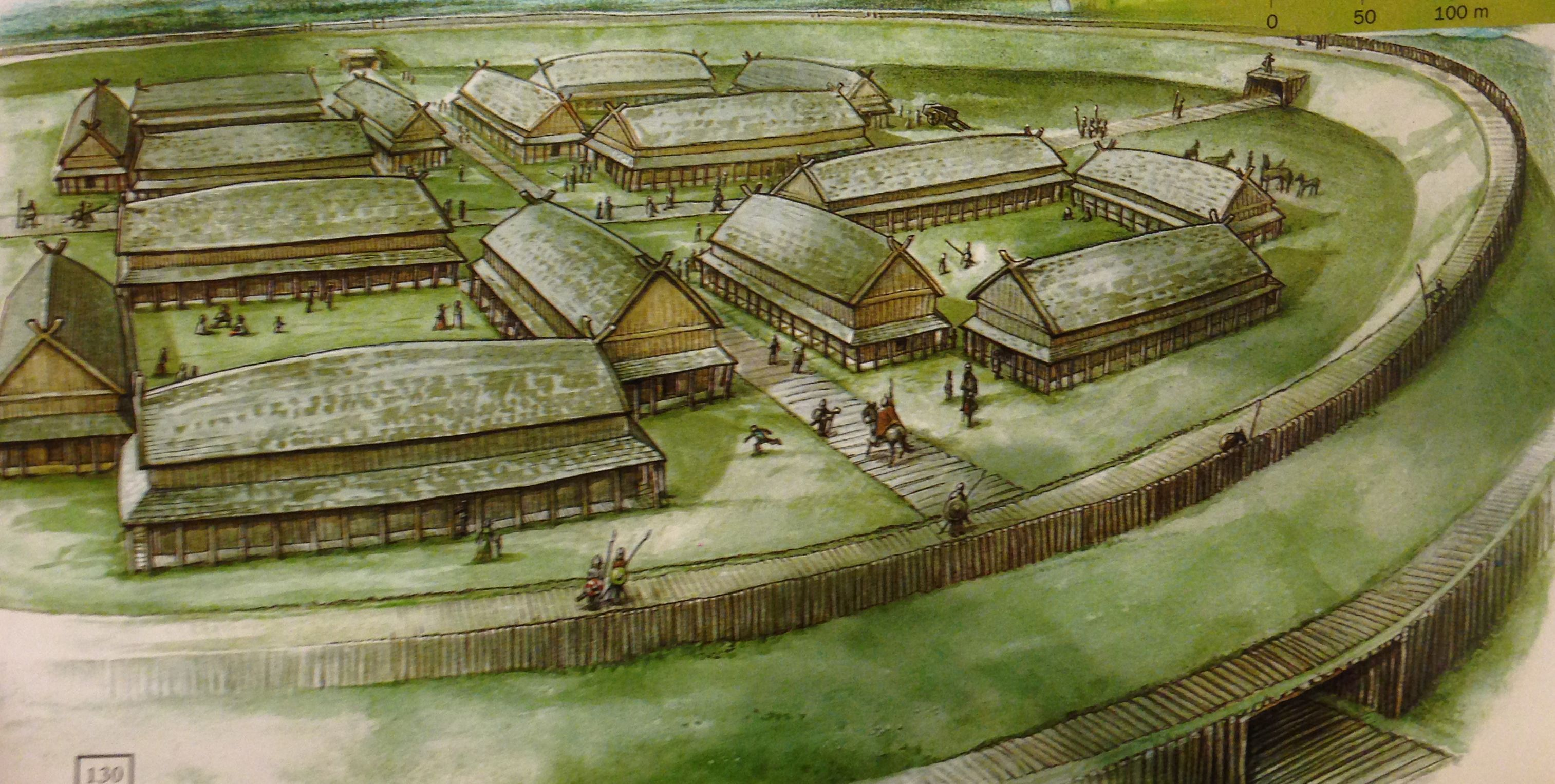 Early Viking Fortifications Were Temporary Designed To Provide Safe Winter Havens For A Viking Warband And Its Ships Description Fro Viking Age Vikings Norse