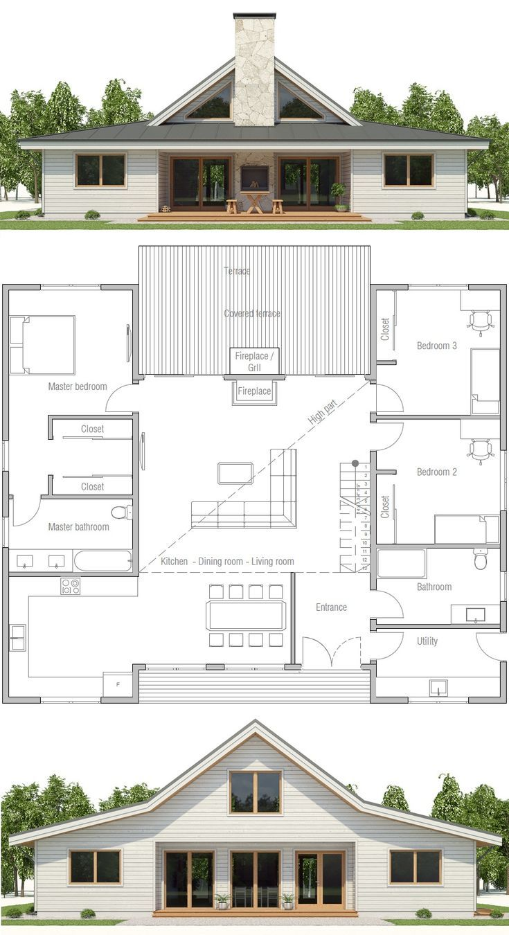 Photo of HOUSE PLAN CH497 ▪Nettofläche: 1900 sq ft ▪Nettofläche: 2143 sq ft ▪Schl…