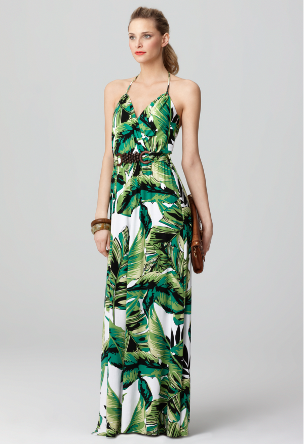 Banana Leaf Print Dress  bea372ee8af6