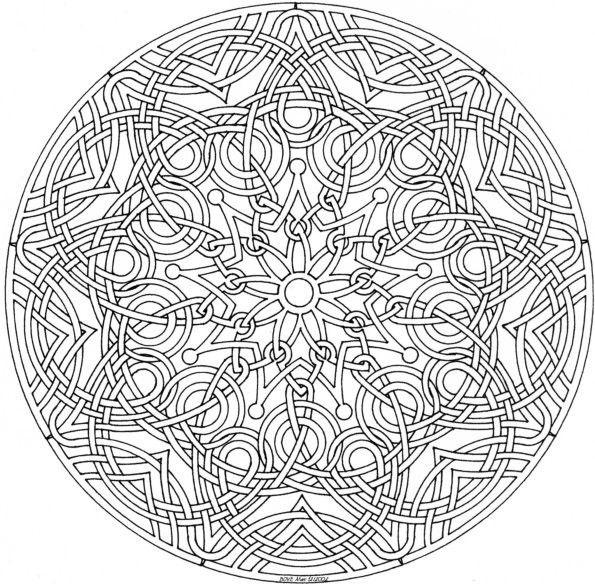 68 mandala a imprimer et a colorier celtic knotwork - Grand mandala ...