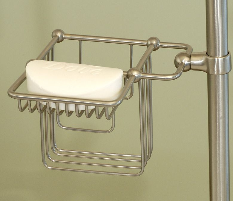 56 Traditional Riser Mount Shampoo Soap Holder Clawfoot Tub