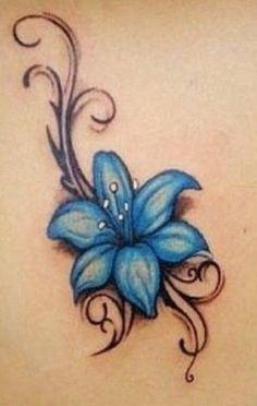 Realistic Blue Lily Tattoo Designs Google Search Blue Flower Tattoos Lily Flower Tattoos Tiger Lily Tattoos
