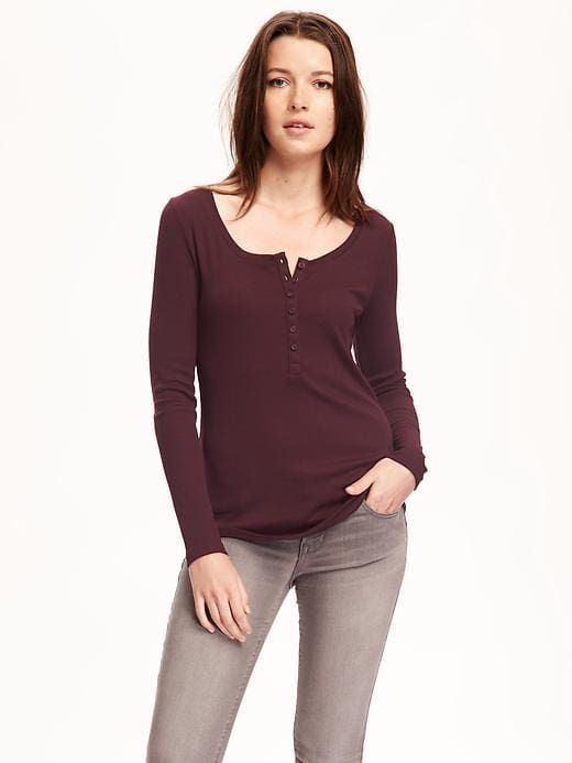 e4fa86594f4265 Rib-Knit Henley for Women
