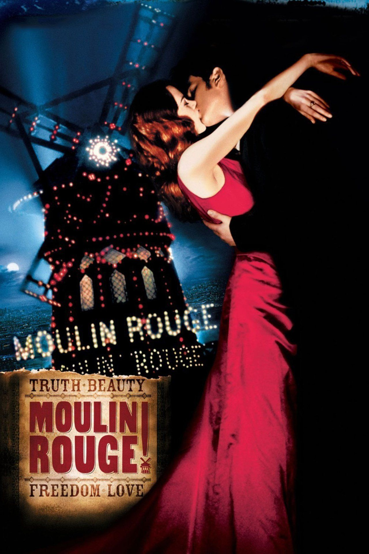 Idealistic Christian is drawn into the dark, fantastical underworld of the Parisian nightclub, the Moulin Rouge. In this seedy but glamorous haven of sex, drugs and electricity, the poet-innocent finds himself plunged into a passionate but ultimately tragic love affair with the club's highest paid star and the city's most famous courtesan, Satin.