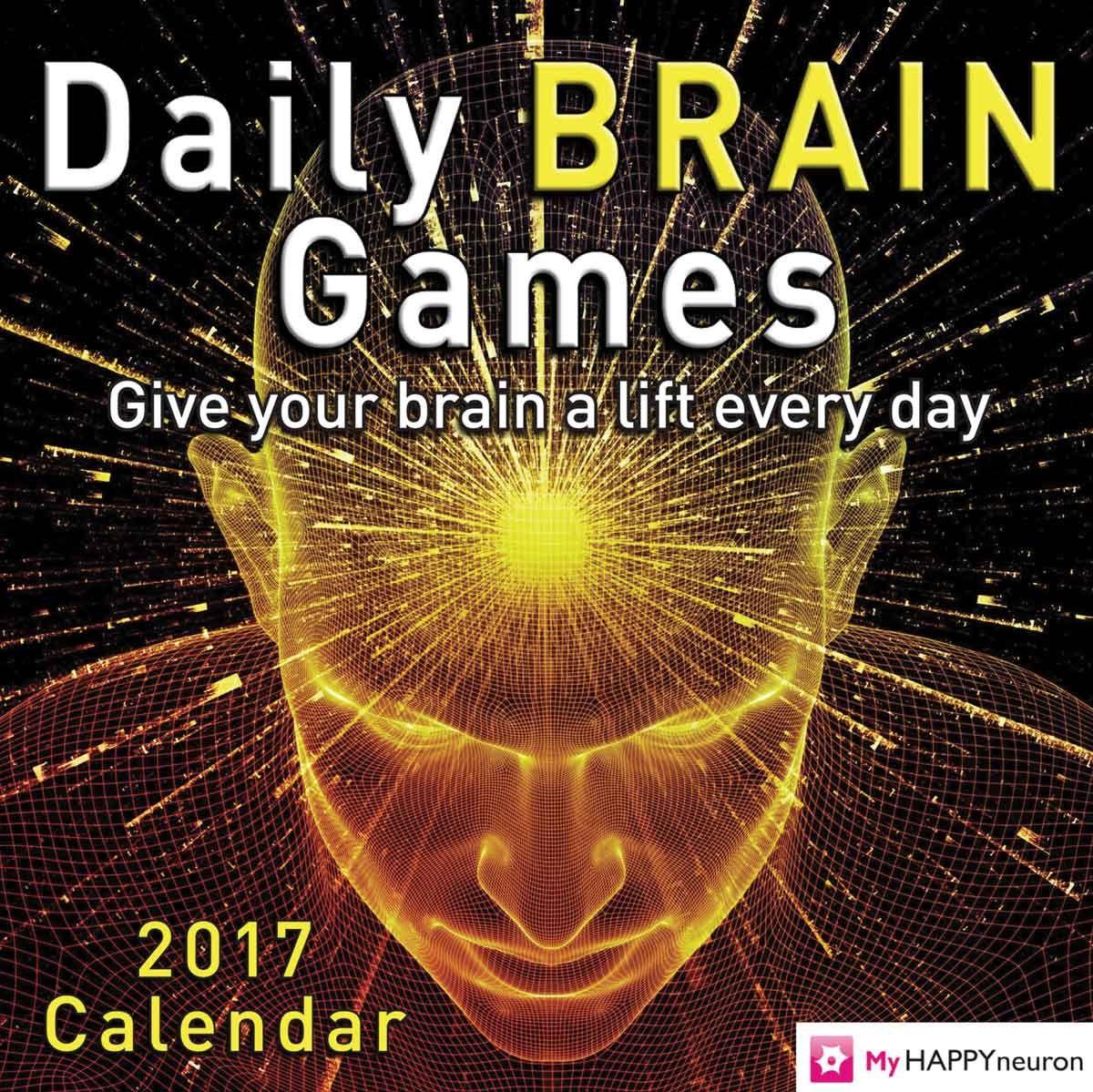 Daily Brain Desk Calendar 2017