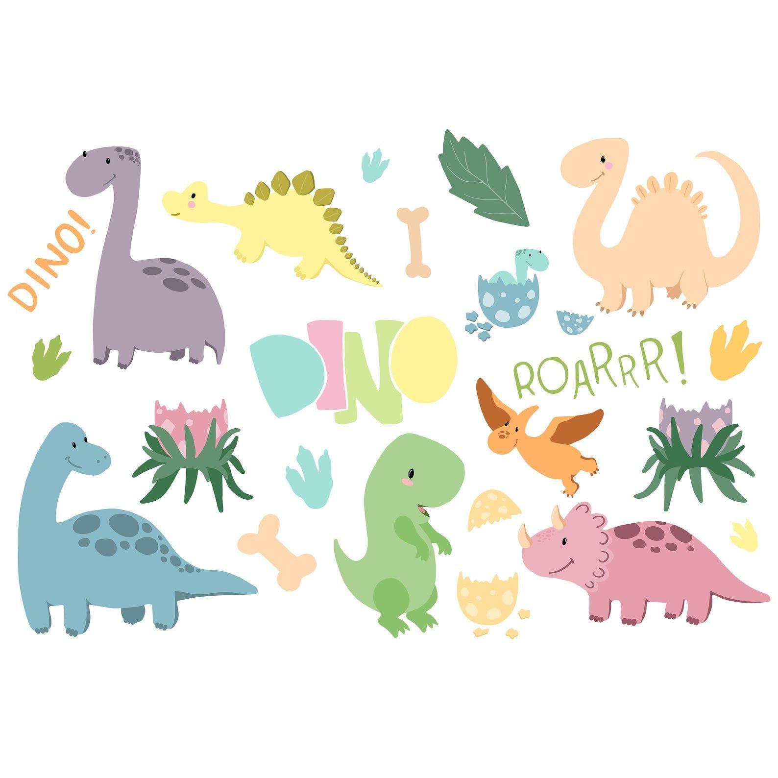 Dinosaur Clipart Kids Cartoon Raptor Set For Instant Etsy Cartoon Clip Art Cute Doodles Dinosaur Drawing