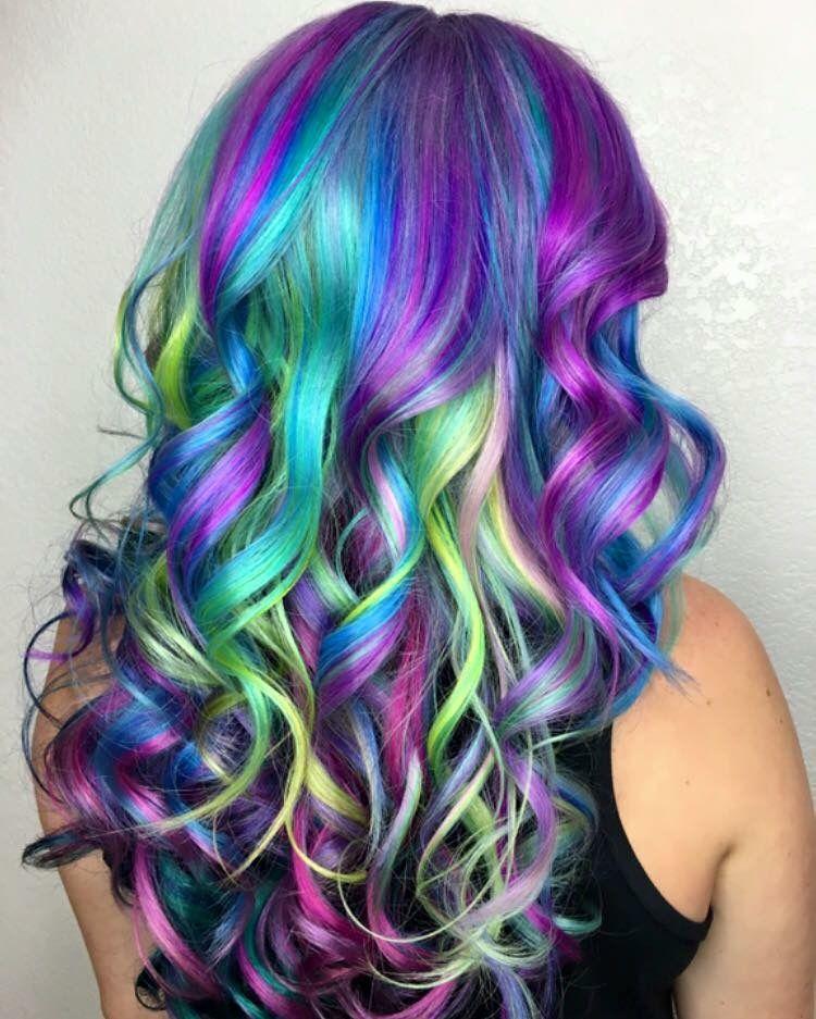 Pulp riot - mermaid bright hair colour  curls Color Crush