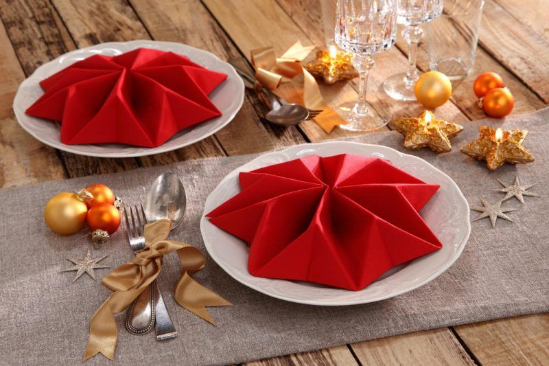 weihnachten stern servietten falten weihnachten basteln. Black Bedroom Furniture Sets. Home Design Ideas