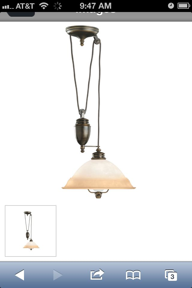 Pull Down Light Fixture   Impulse Buy For My Dining Room!