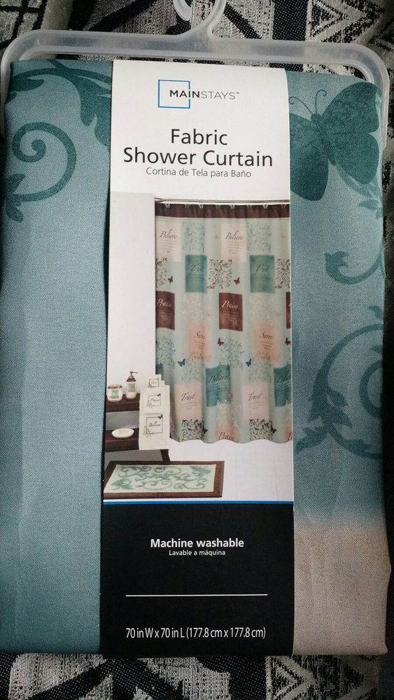 Butterfly Blessings Shower Curtain By Mainstays New In Package