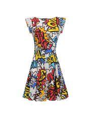#Moschino comic book dress. comic strip.