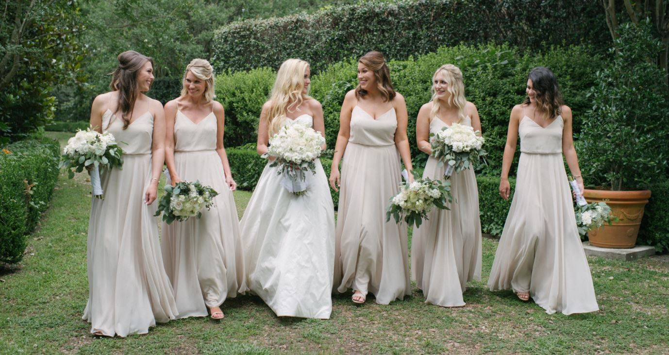 Jenny Yoo Champagne Bridesmaid Dresses From Bella Bridesmaids In Little Rock BellaLittleRock Photo Whitney