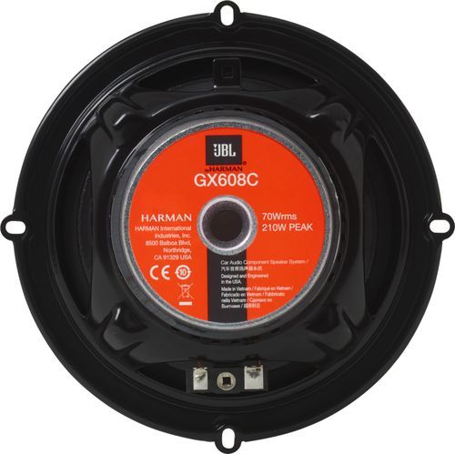 JBL - GX Series 6.5 2-Way Component Speaker System with Polypropylene Cones (Pair) - Black #componentspeakers