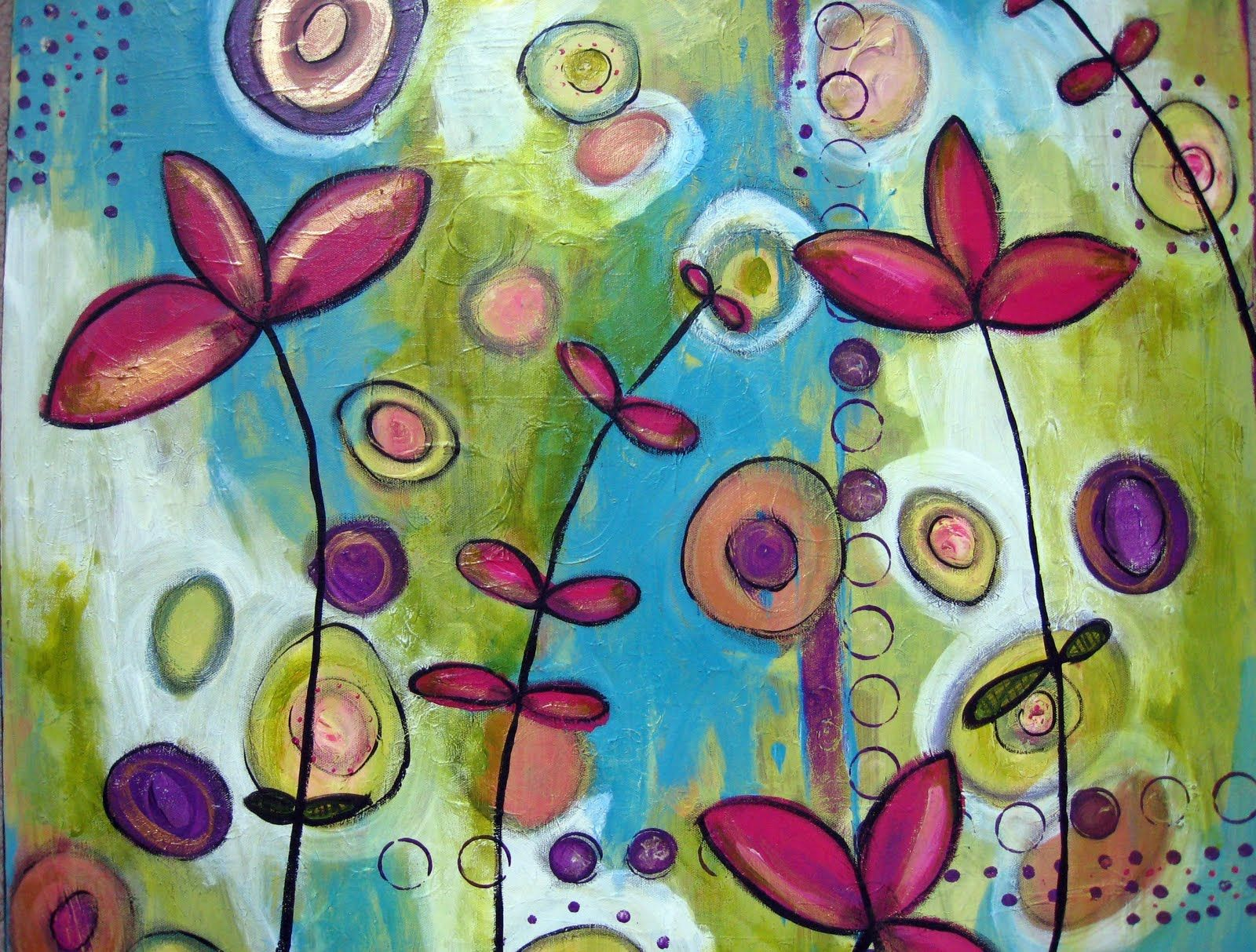 Easy Canvas Painting Canvas Paint Ideas Agreeable Beautiful Flowers With Small And Big