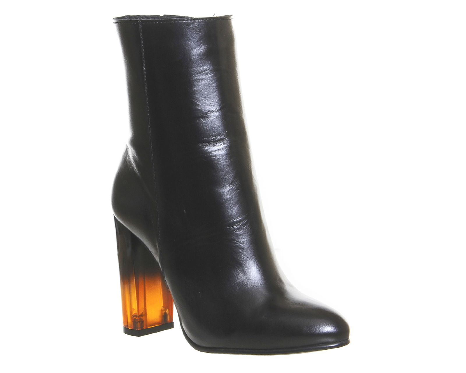 e090dedc33f4 Buy Black Leather Tortoise Shell Heel Office Immense High Cut Ankle Boots  from OFFICE.co.uk.