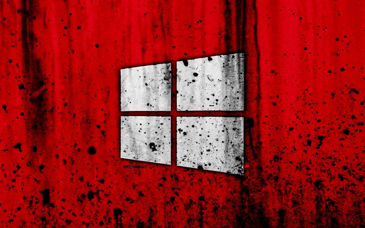 Download Wallpapers Windows 10 4k Creative Grunge Red Background Logo Windows 10 Logo Microsoft Besthqwallpapers Com Wallpaper Windows 10 Windows 10 Logo Iphone Wallpaper Smoke