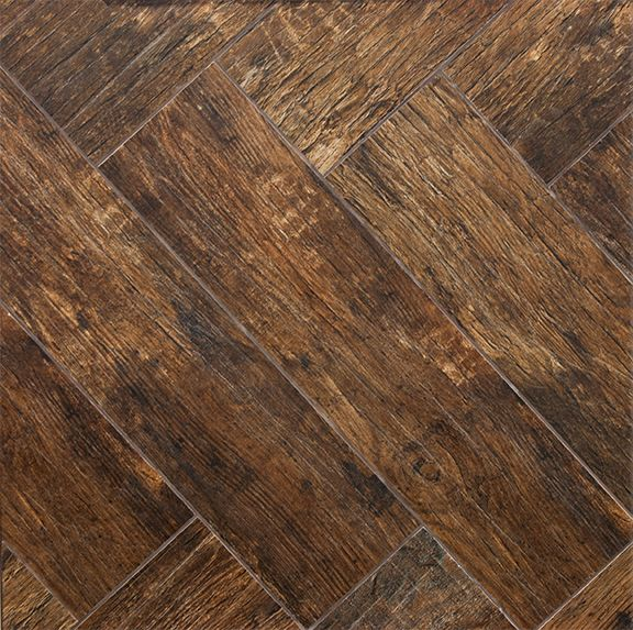 Redwood Mahogany 6x24 Wood Plank Porcelain Tile MASTER BATHROOM - Wood Grain Ceramic Tile Planks Products - E & S Wood Tile