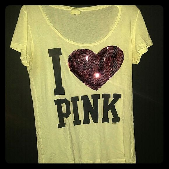 Ive only worn it a couple of times It's super comfy for a lazy day. You could even wear it to work out if you wanted. Pair it with yoga pants and a hoodie when your out for the day. PINK Victoria's Secret Tops Tees - Short Sleeve