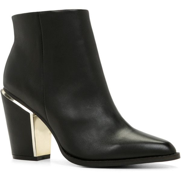 ALDO Digosien Boots ($110) ❤ liked on Polyvore featuring shoes, boots, black, high heel boots, leather sole boots, aldo boots, black zip boots and black boots