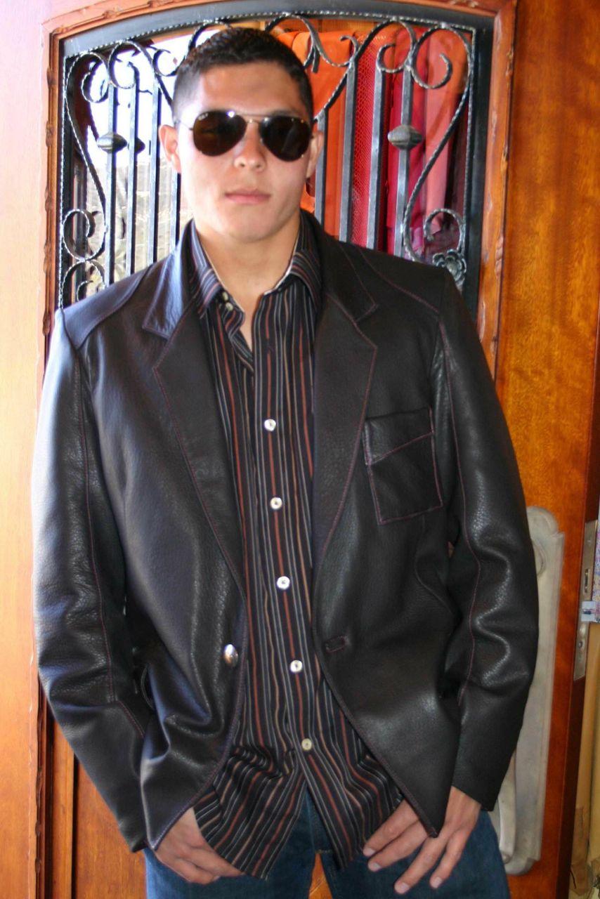 Expresso Brown Deerskin Sportscoat #mens leather #custom leather #mens fashion #jackie robbins