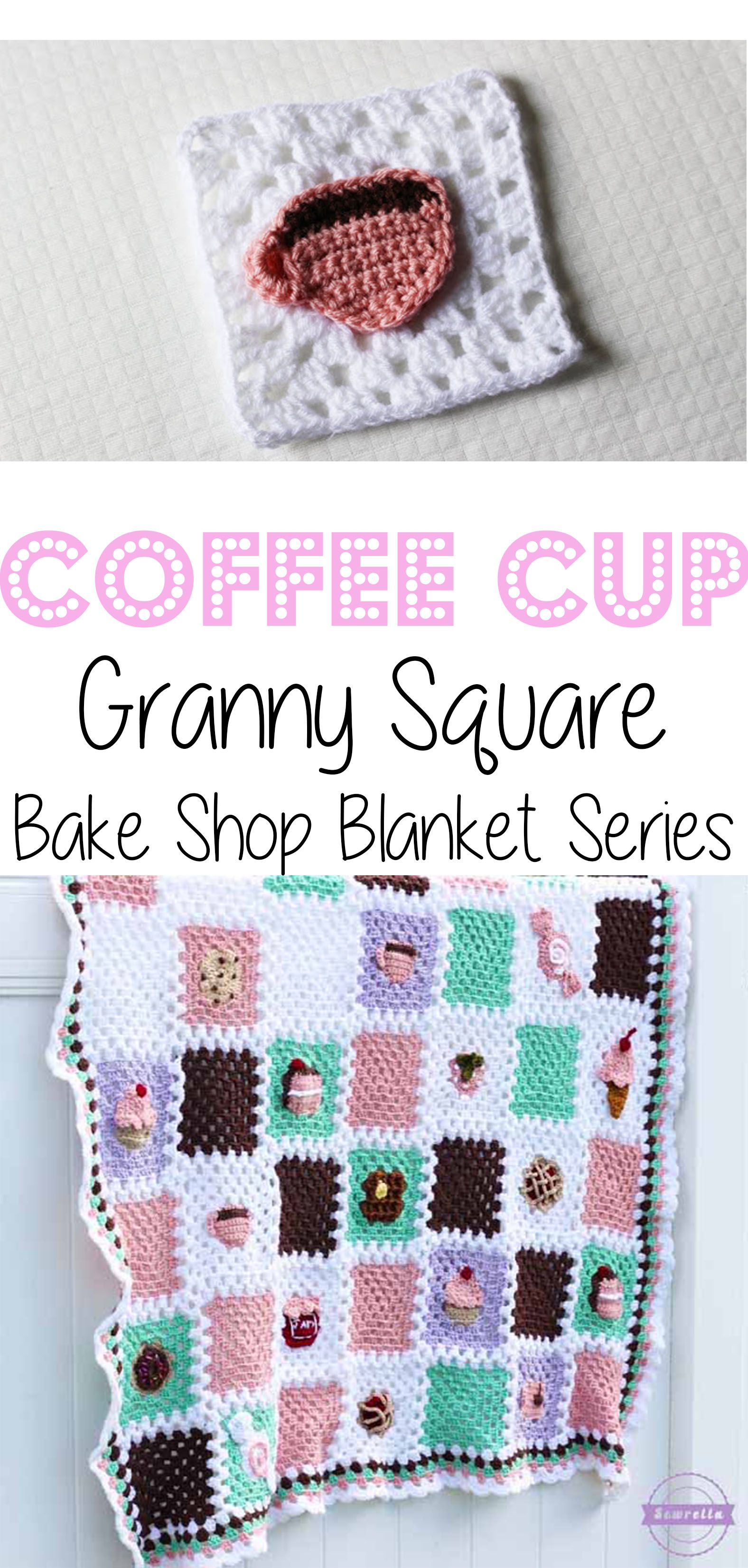 Crochet Coffee Cup Granny Square: Bake Shop Blanket Series | Manta ...