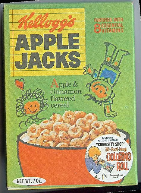 apple jacks vintage cereal box Cereal, 1980s and App - new apple app world map