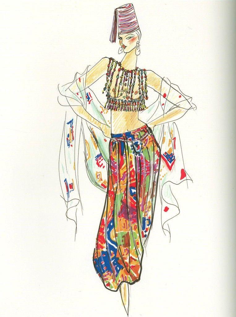 этнические костюмы рисунки вмятин без