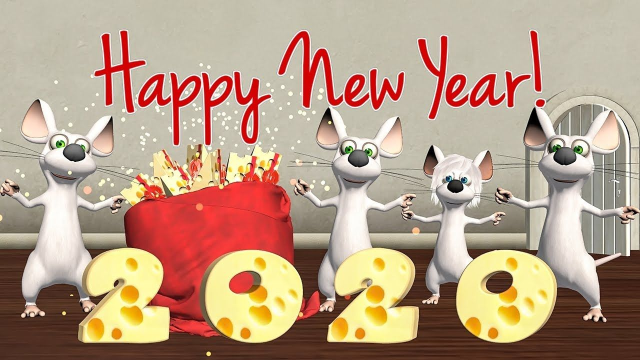 Happy New Year 2020 Funny Happy New Year Of The Rat Youtube In 2020 Year Of The Rat Happy New Year Animation Happy New Year 2020
