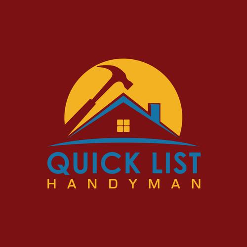 quick list handyman create a challenging logo for my handyman