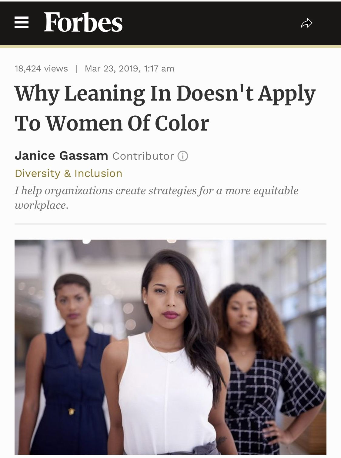 Why Leaning In Doesn T Apply To Women Of Color