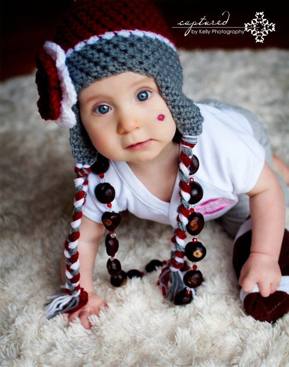OSU Pom Pom Beanie  Newborn5yr by NoodleNoggins on Etsy, $36.00