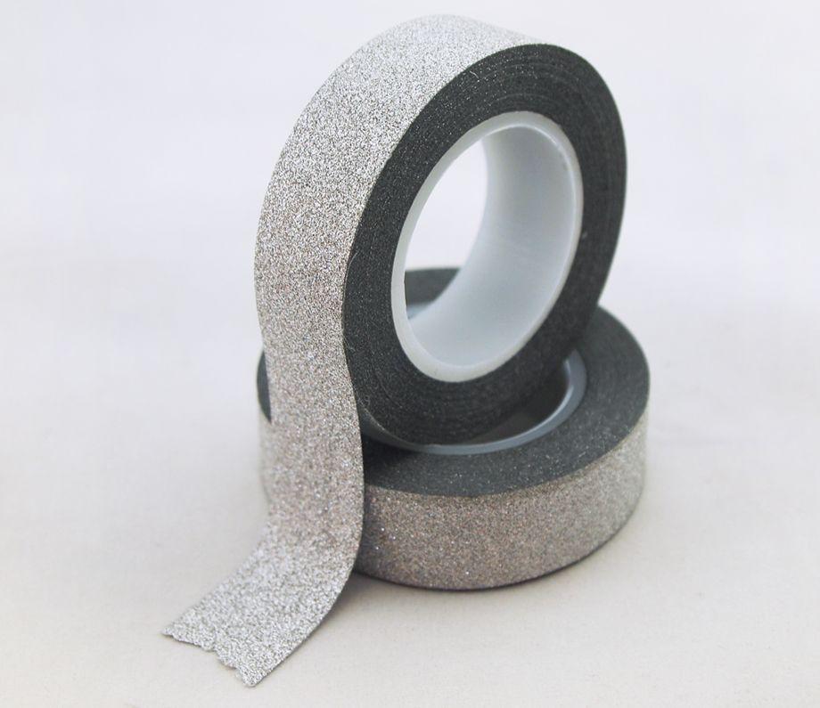 silver glitter tape,silver bling bling glitter tape,silver stock glitter tape,silver flicker tape