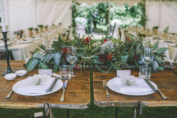 Rustic wedding table idea | i take you