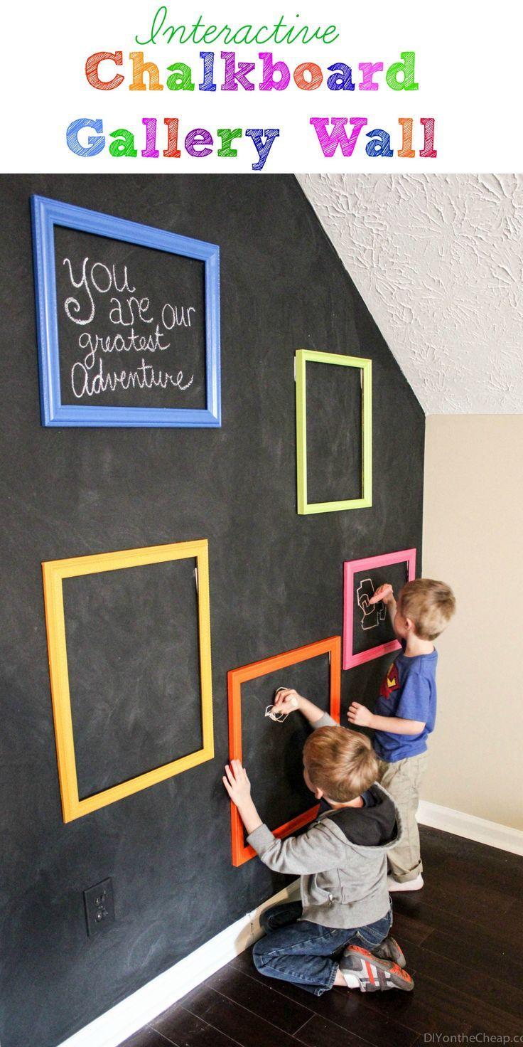 Playroom Interactive Chalkboard Gallery Wall Erin Spain Kids Chalkboard Kids Playroom Decor Kids Playroom