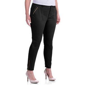 8d8c6fc2d3 Faded Glory Women's Plus-Size Skinny Cargo Pants with Zipper Details ...
